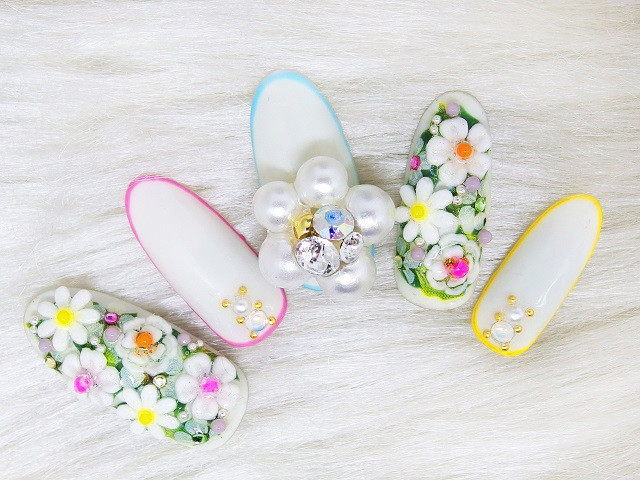 3月の新作 White flower Garden